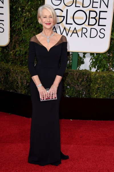 Consistently a star on the red carpet, Helen Mirren opts for form-fitting minimal black