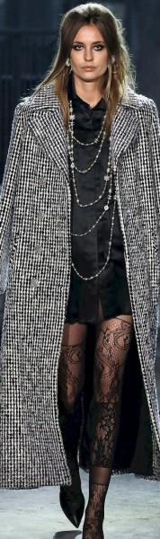 black white coat