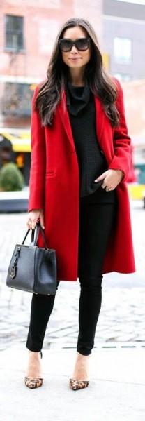 palton-rosu