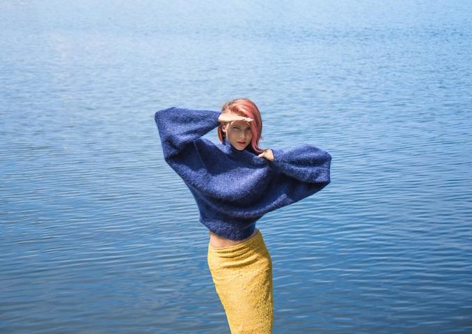 samantha-angelo-blue-sweater