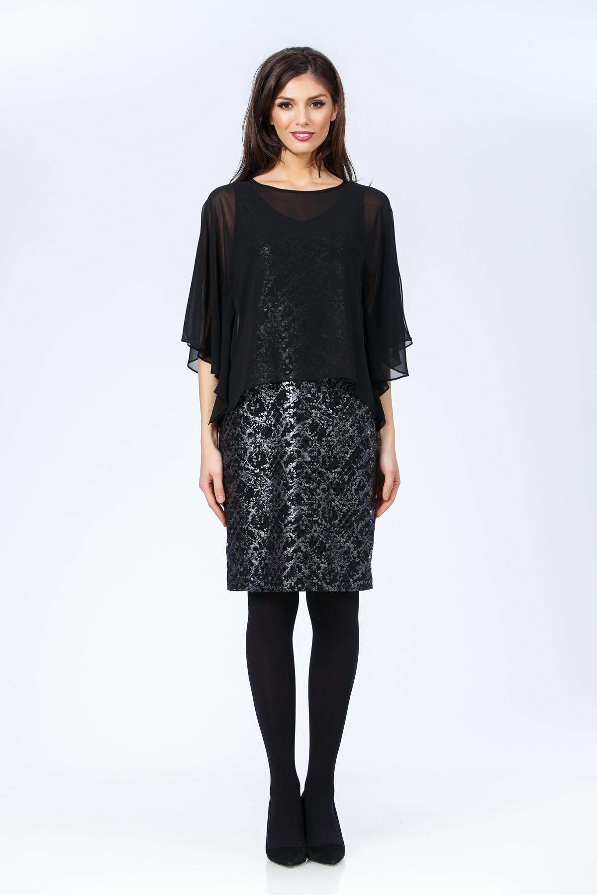 rochie-negru-argintiu-sense