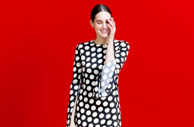 rochie-office-polka-dots
