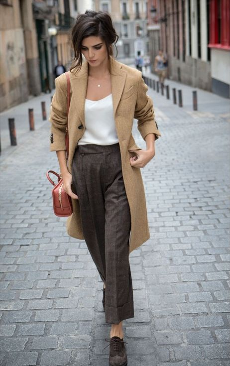 pantaloni-maro-straight-cut