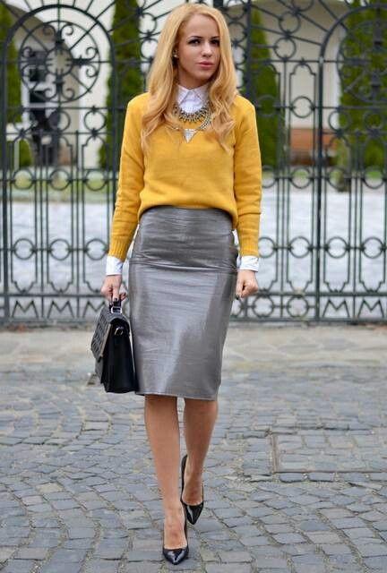 pulover-galben-office