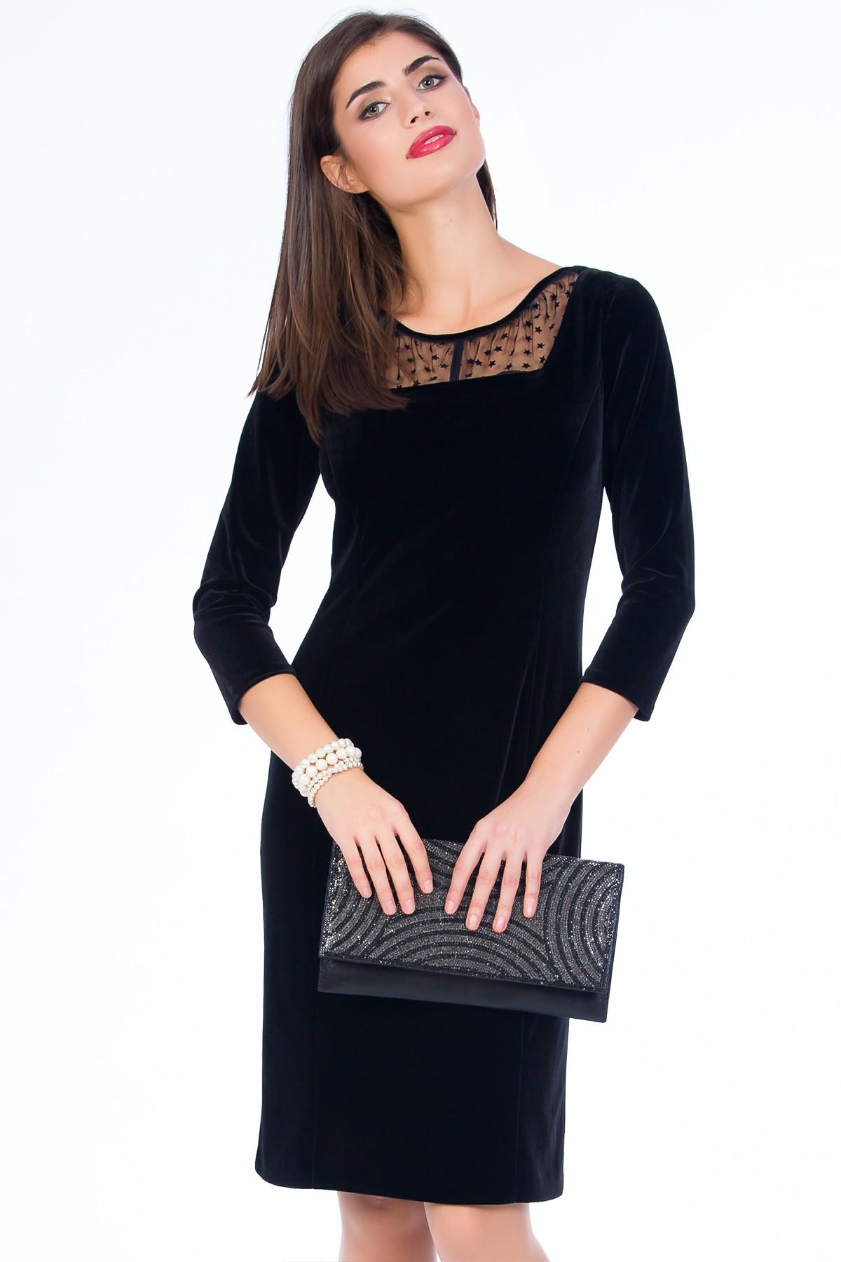 rochie-neagra-catifea-sense