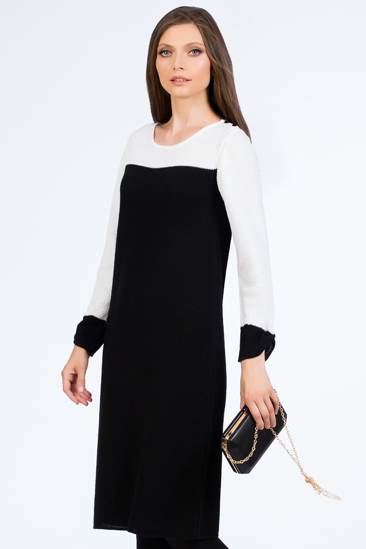 rochie-tricot-alb-negru-sense