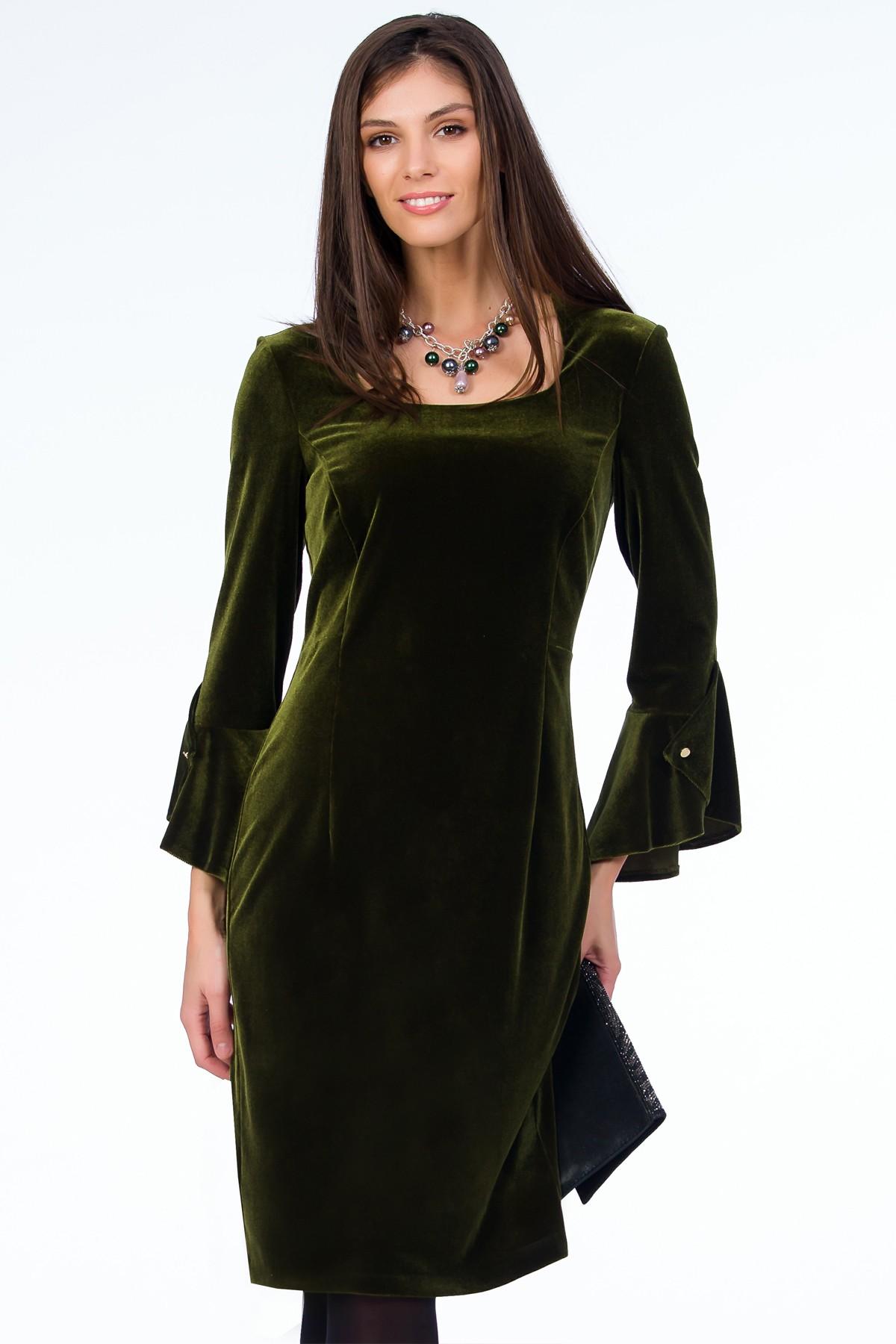 rochie-verde-catifea-sense