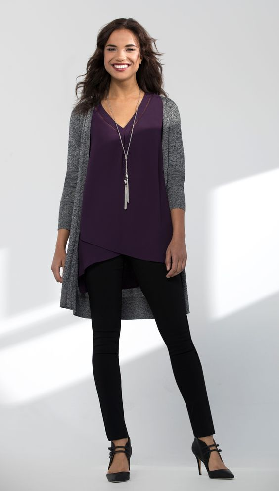violet-negru-casual-office