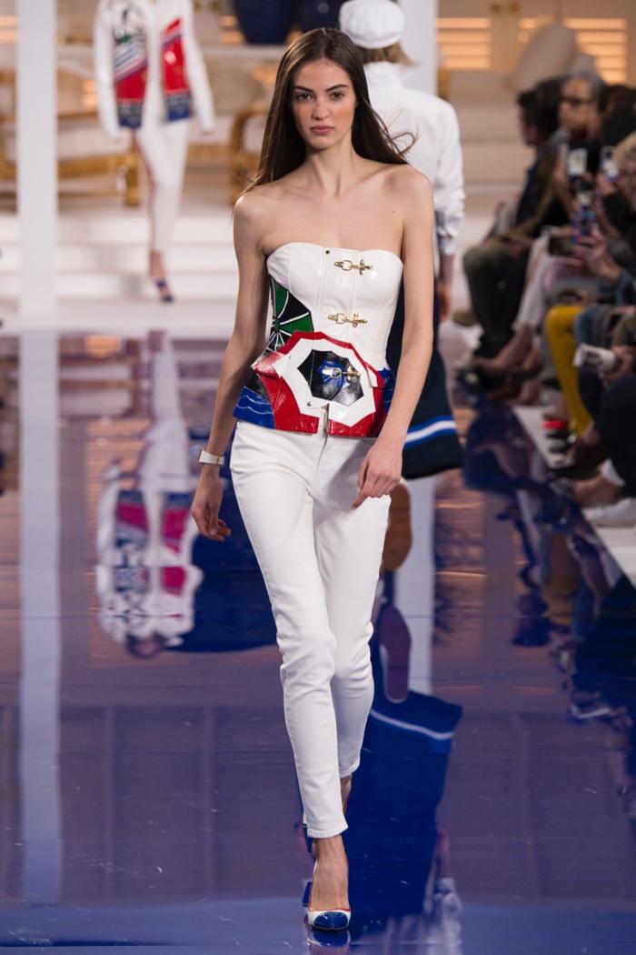 pantaloni-alb-top-colorat-lauren