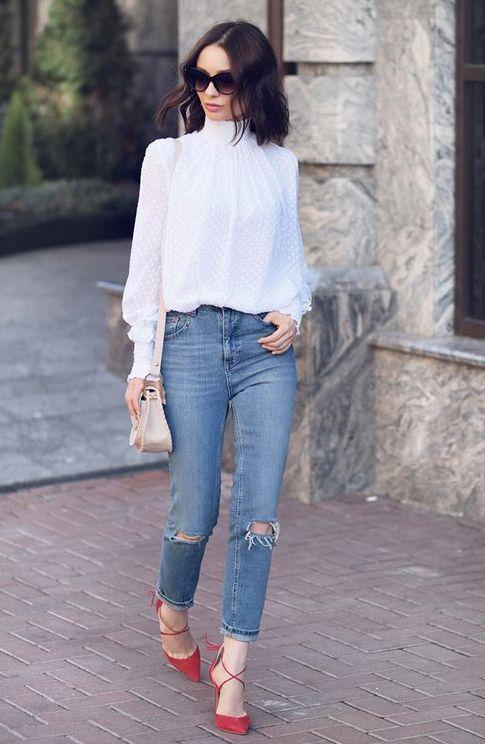 bluza-alba-jeansi