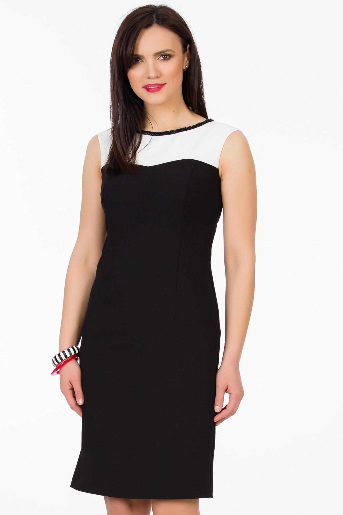 rochie-negru-alb-sense