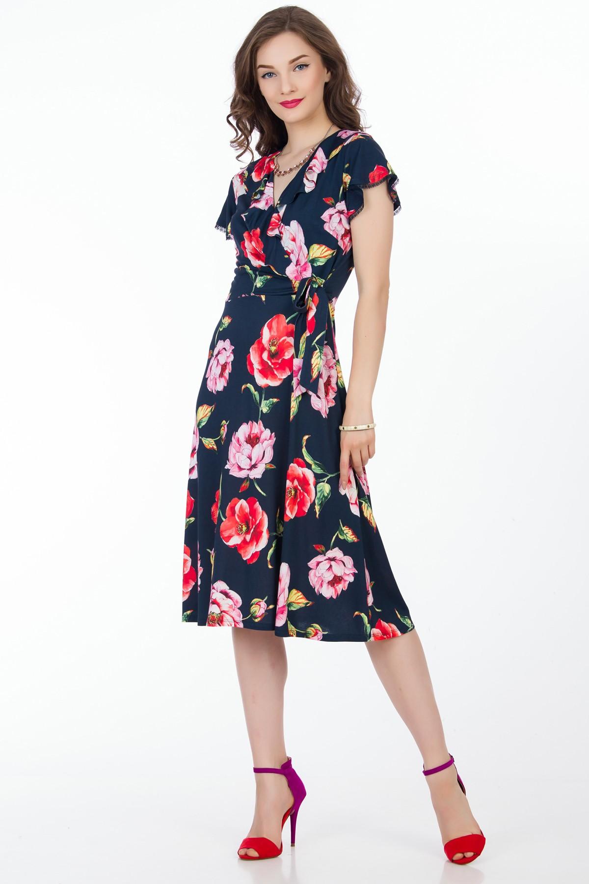 rochie-midi-flori-sense