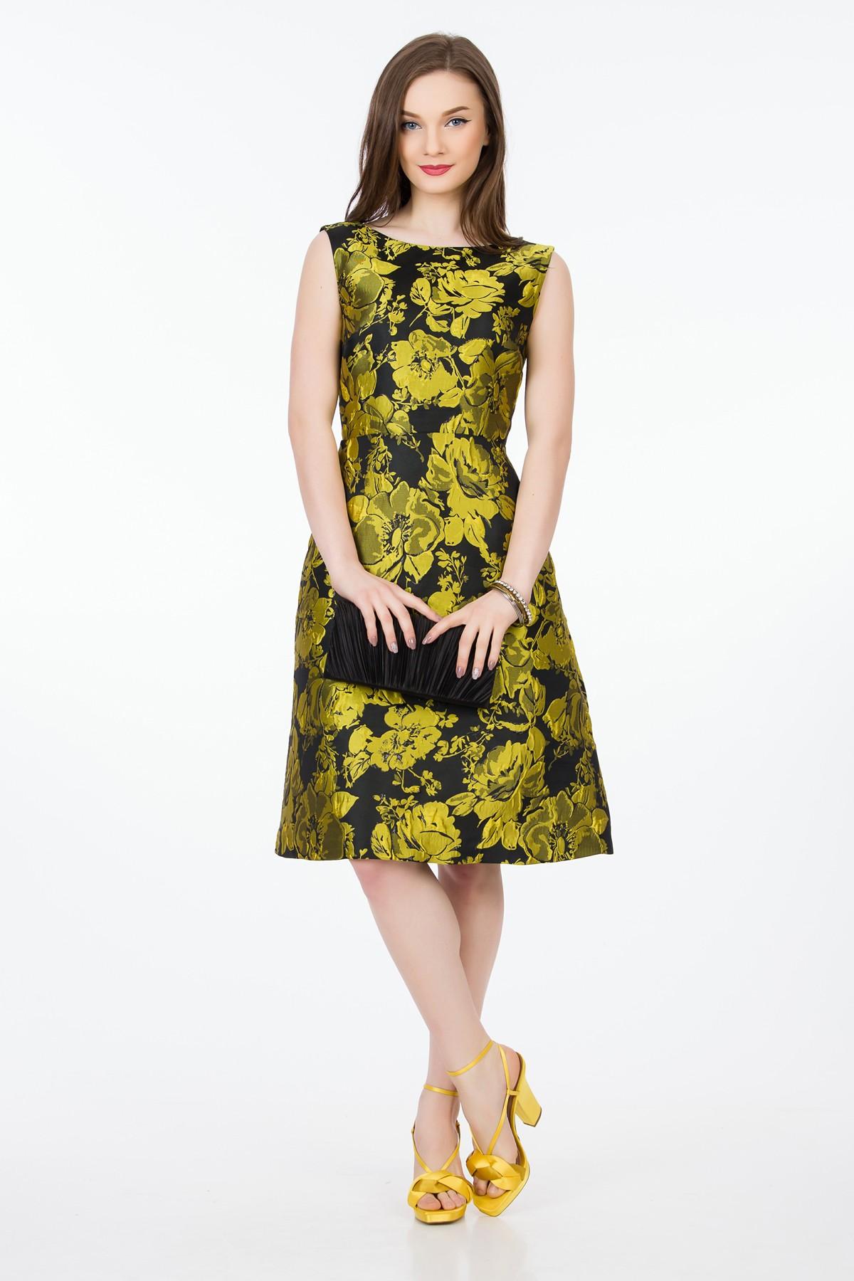 rochie-auriu-negru-sense