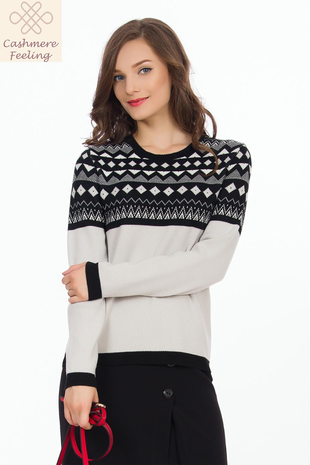 pulover-alb-negru-model-sense