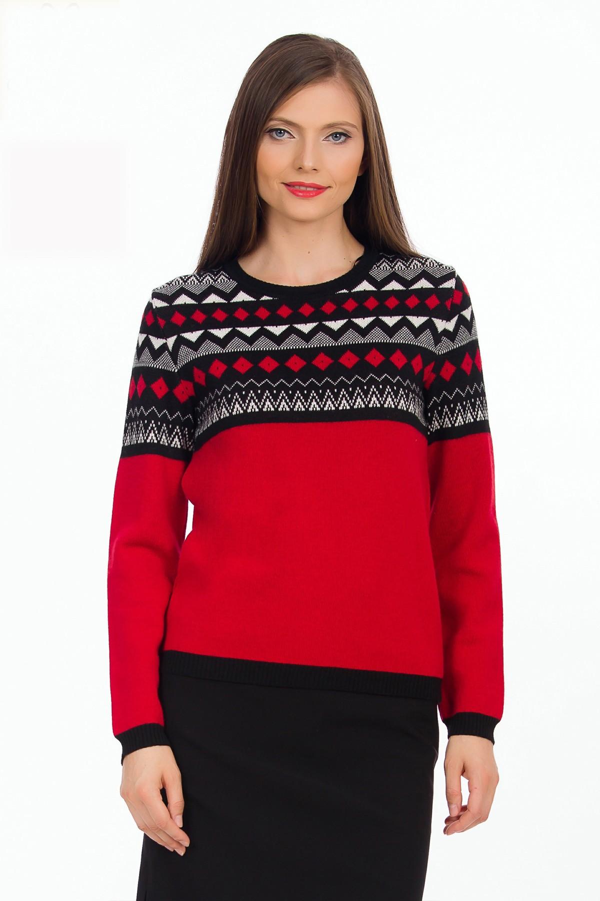 pulover-rosu-model-sense