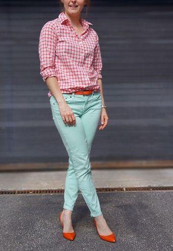 pantaloni-turquoise