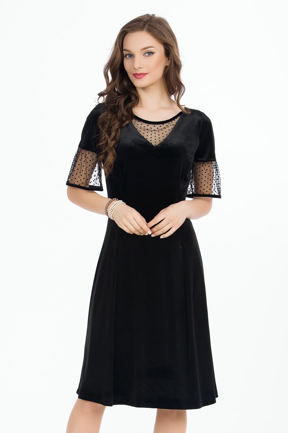 rochie-neagra-maneci-transparente