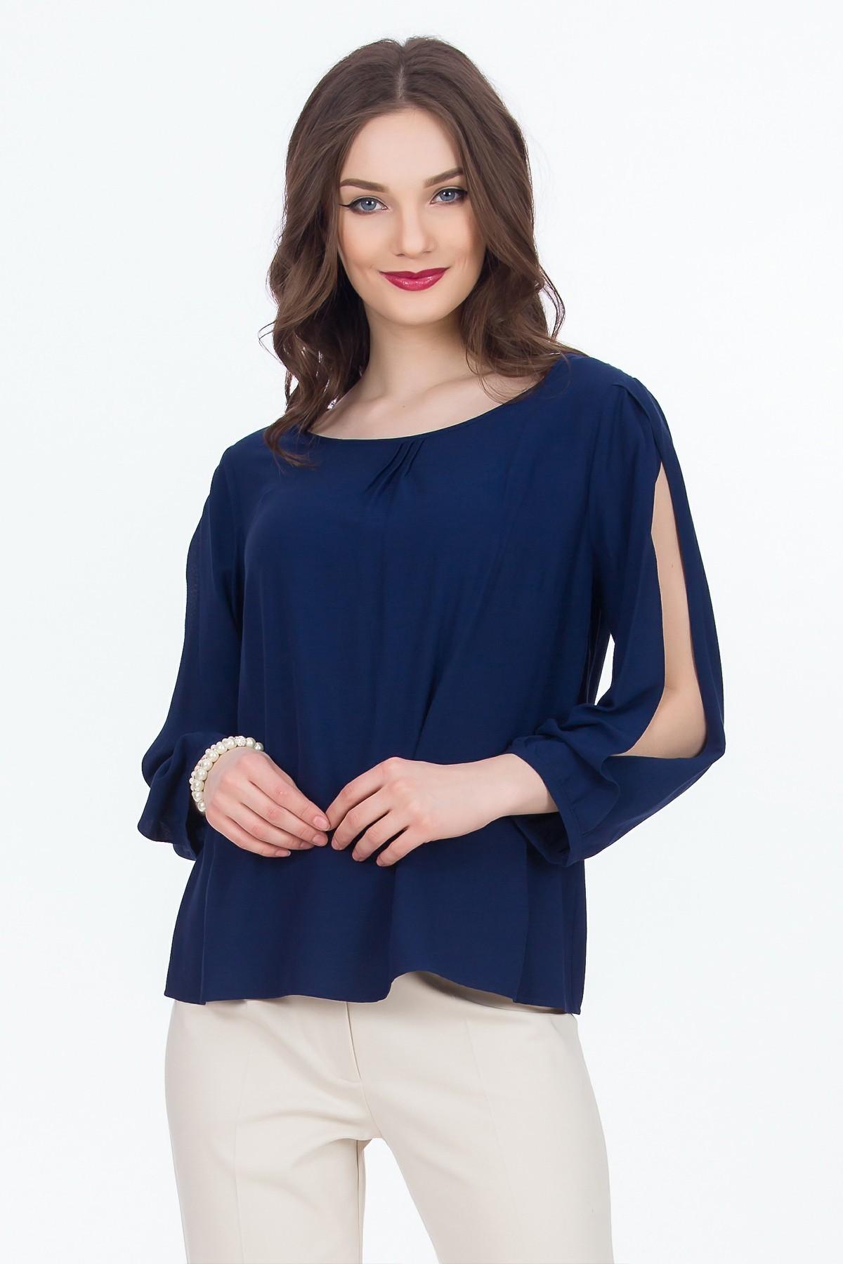 bluza-bleumarin-decupata-sense