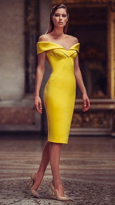 rochie-galbena-eleganta