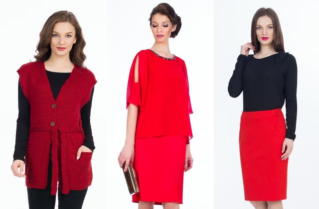 In ce tinute putem purta rosul aprins, una dintre culorile anului 2019