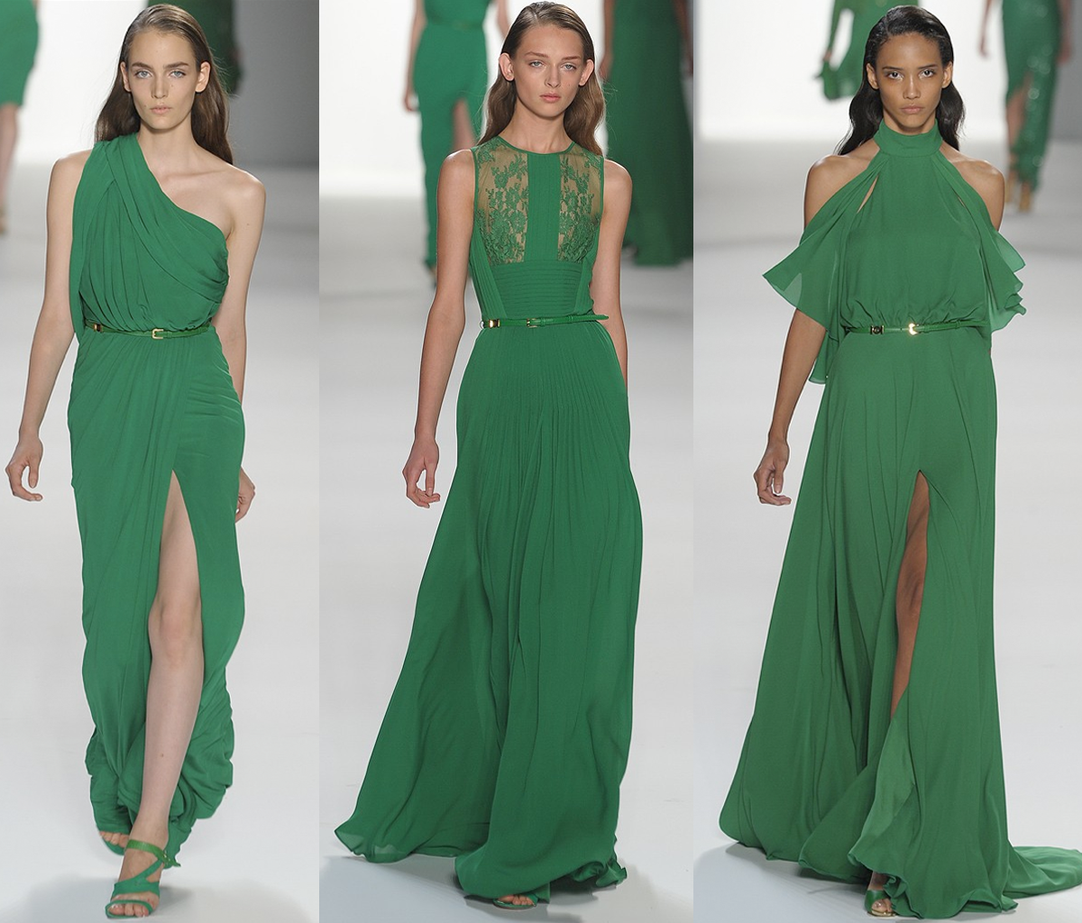 elie-saab-green-bridesmaids-dresses-emerald-wedding-colors
