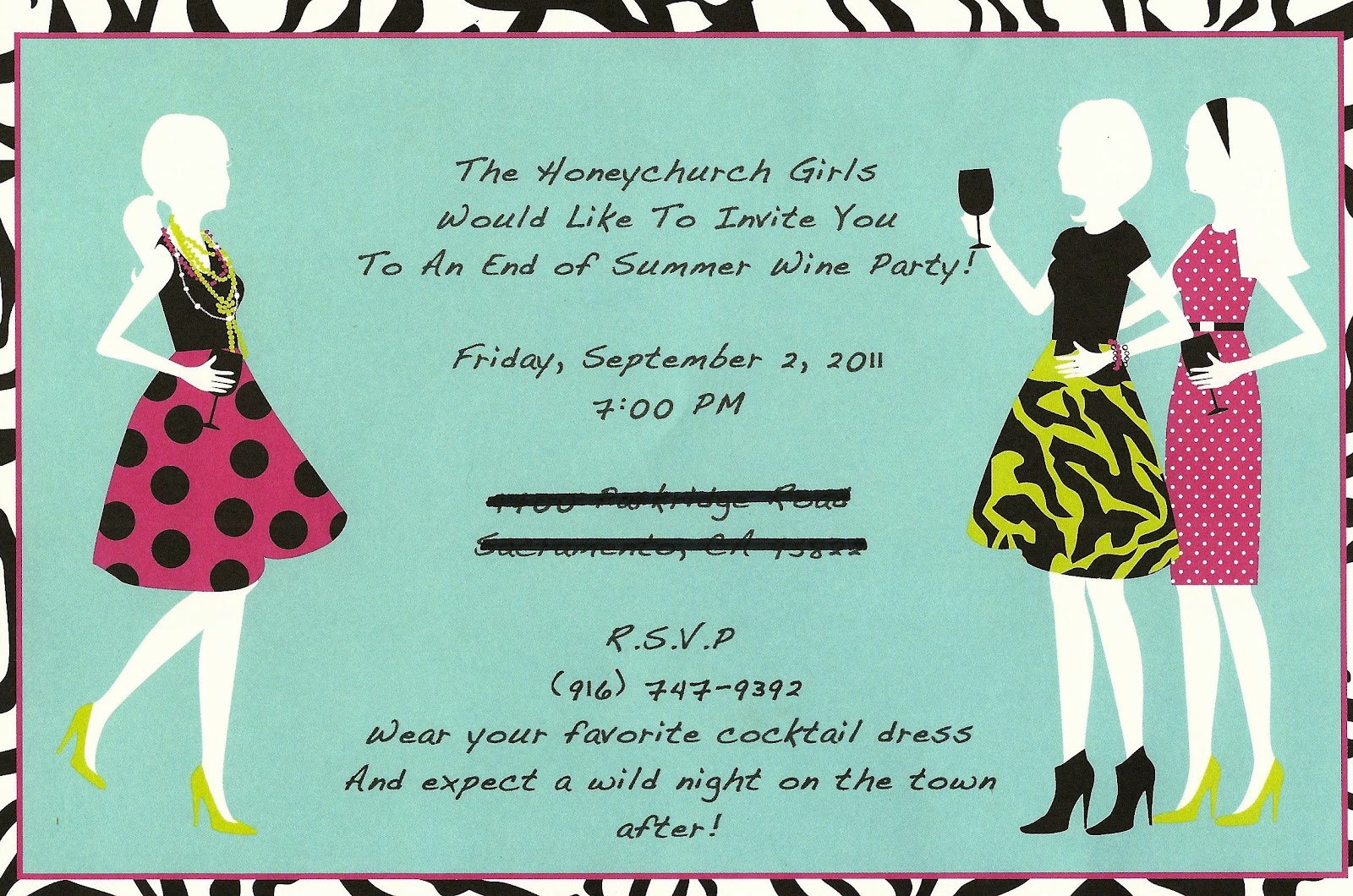 seasonal-party-invitations-stylish-summer-party-invitation-design-idea-with-light-blue-background-white-girls-with-pink-dress-with-polka-dot-motive-and-black-letters-cheerful-summer-part