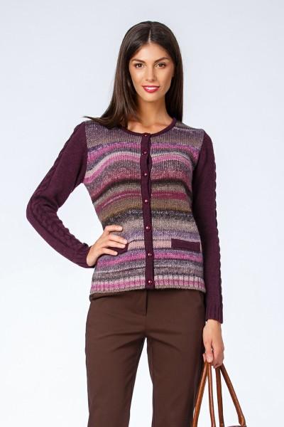 jacheta cardigan violet