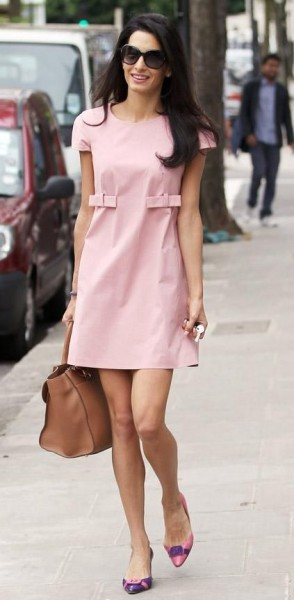 amal pink dress