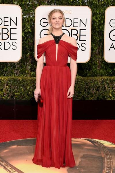 Natalie Dormer red dress by J. Mendel