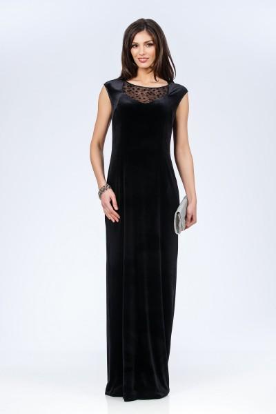 rochie neagra catifea fashionsense