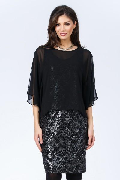 rochie 2in1 neagra fashionsense
