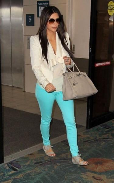 kim turquoise pants