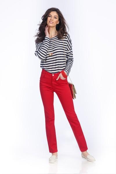 pantalon rosu