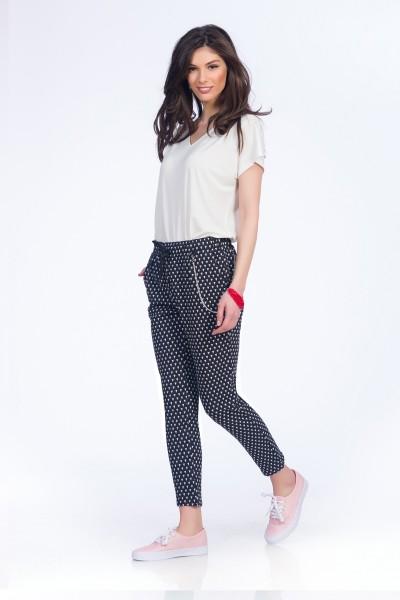 pantaloni polka dots