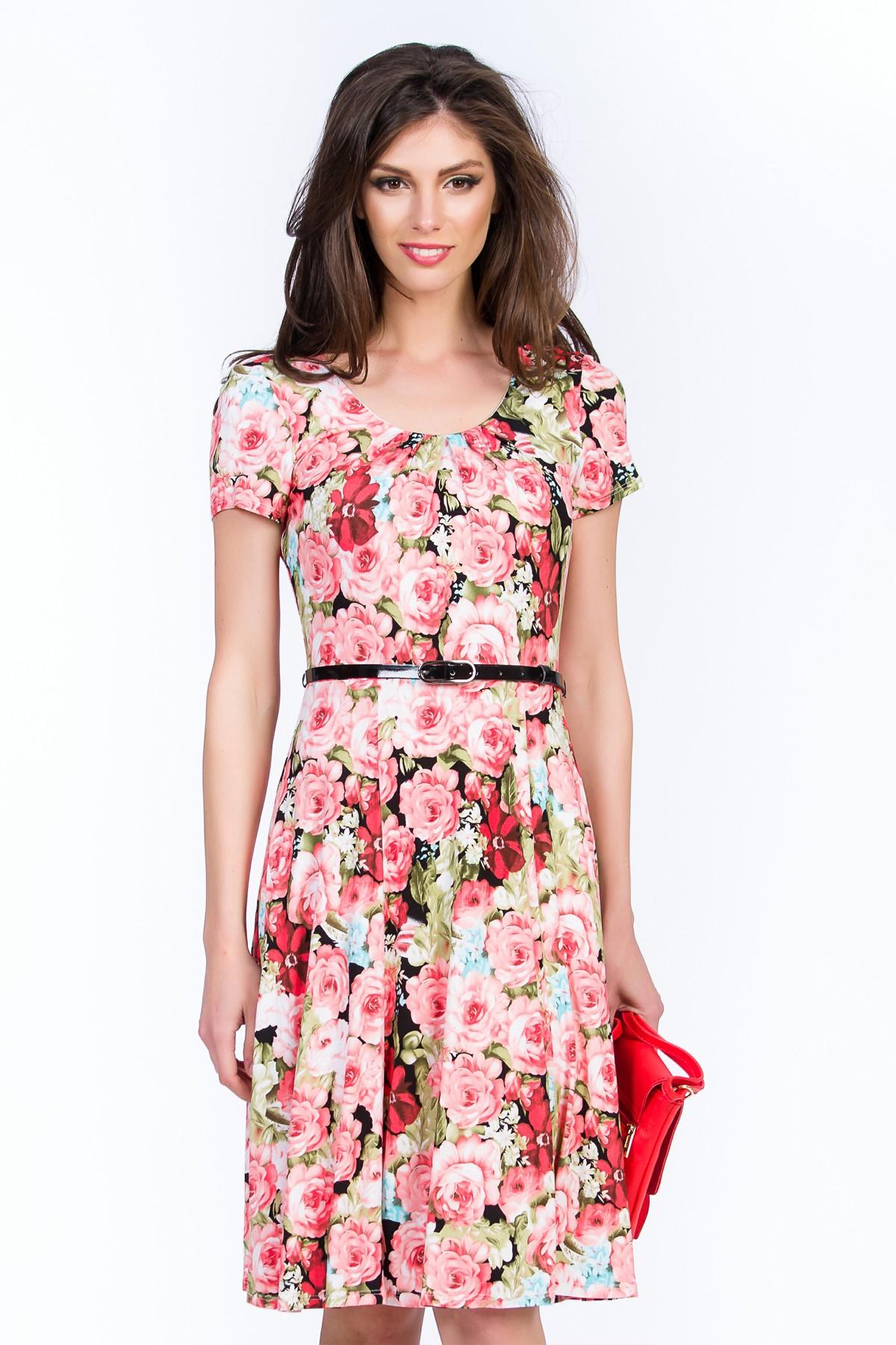 rochie roz floral