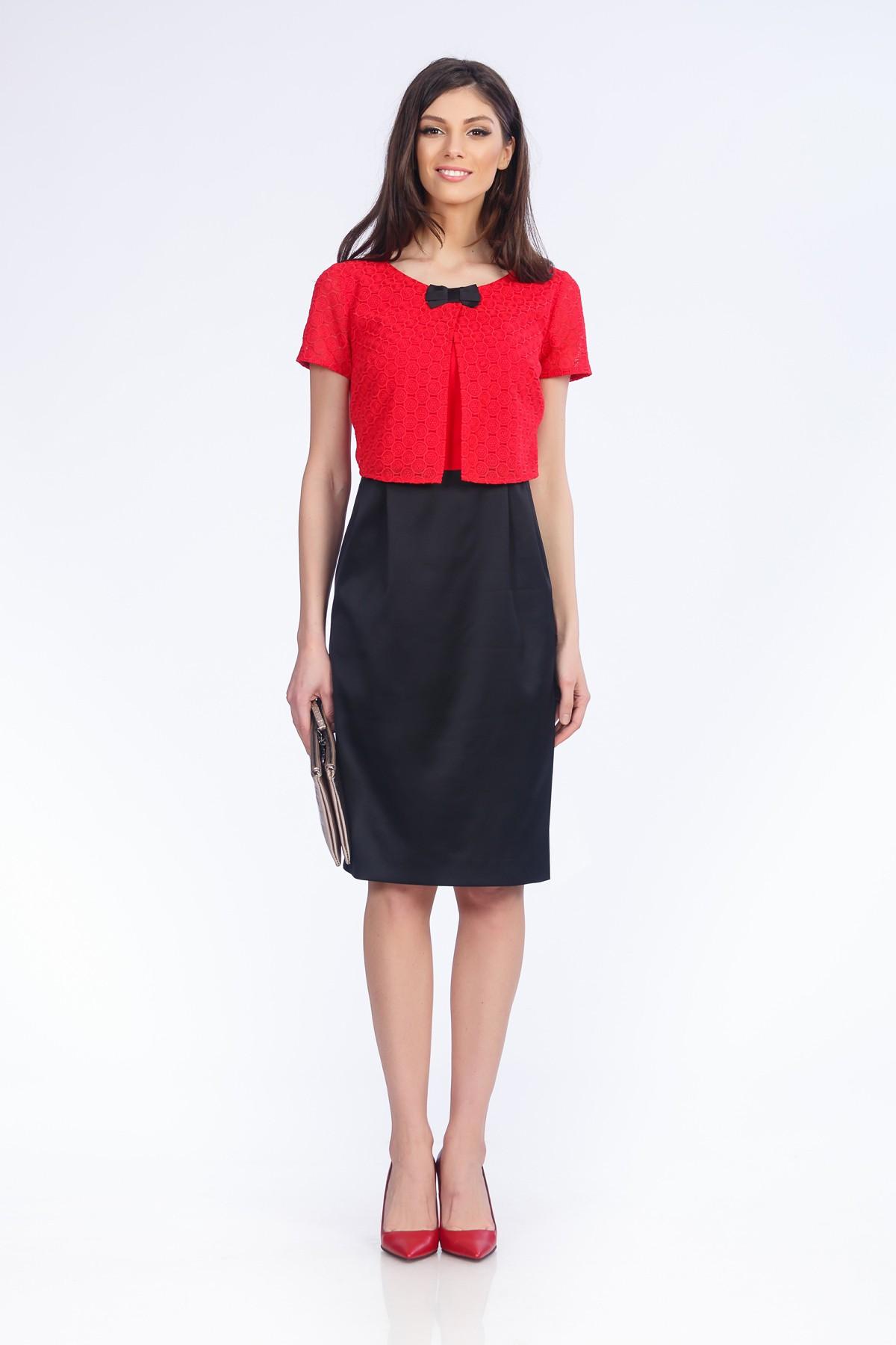rochie-rosu-negru-sense