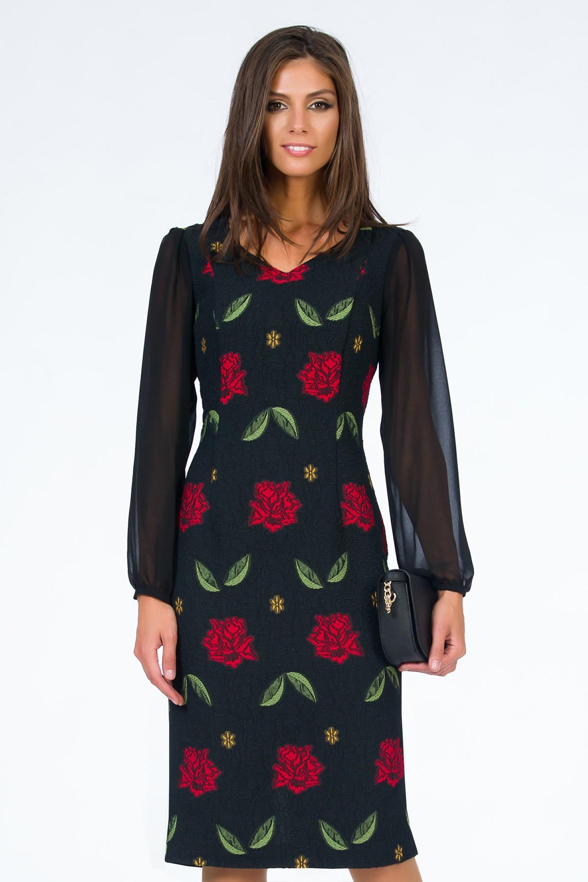 rochie-sense-imprimeu-floral