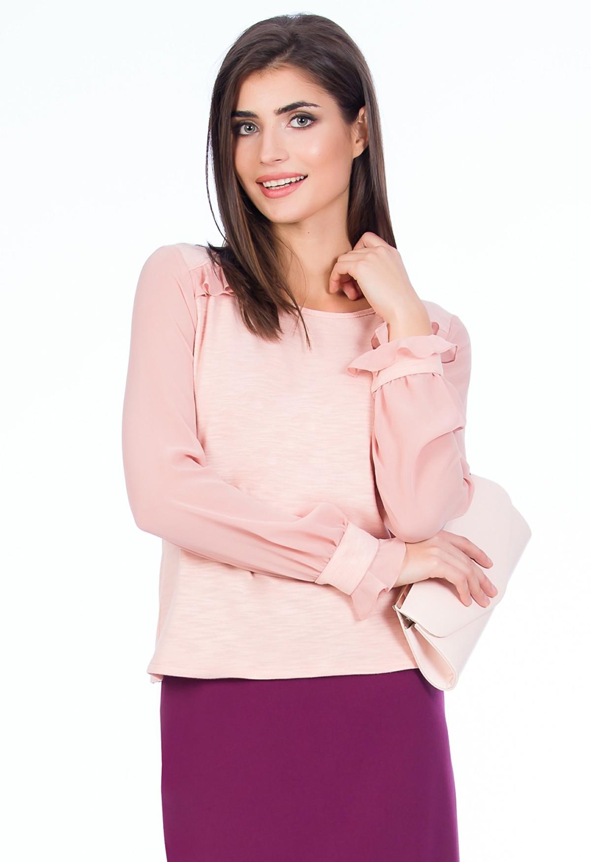 bluza-roz-voal-fashionsense