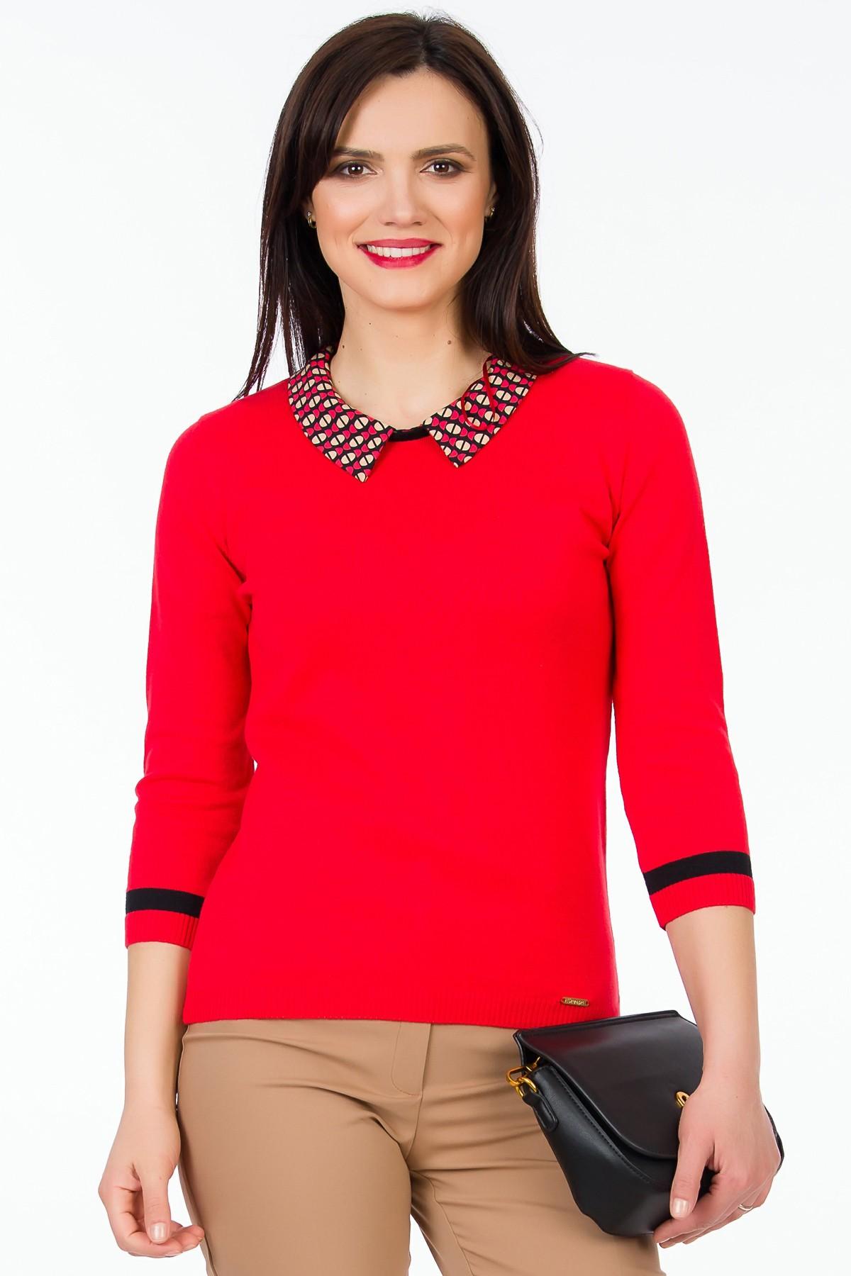 pulover-tricot-rosu-sense