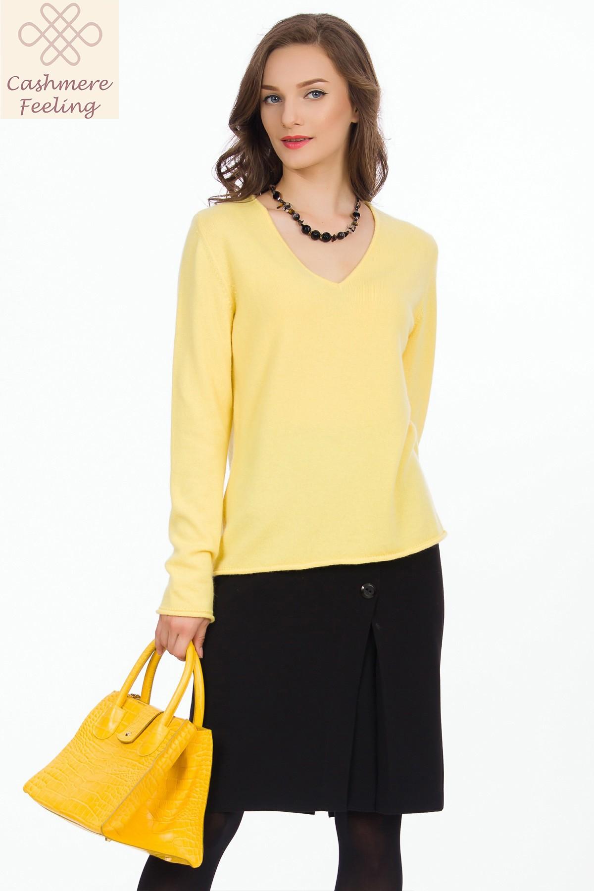 pulover-galben-sense