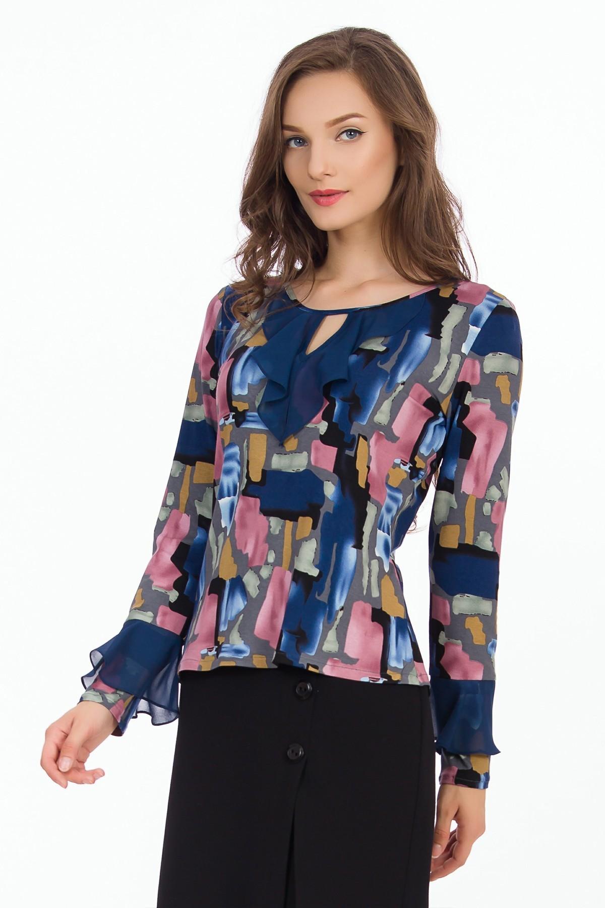 bluza-multicolora-volane-sense