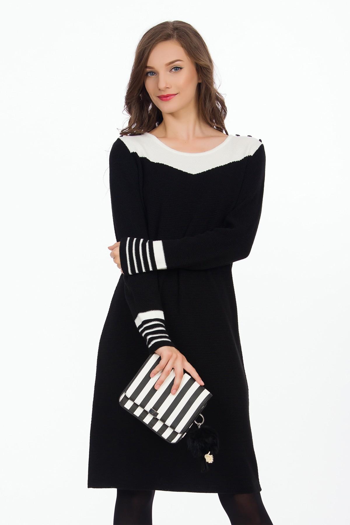 rochie-alb-negru-sense