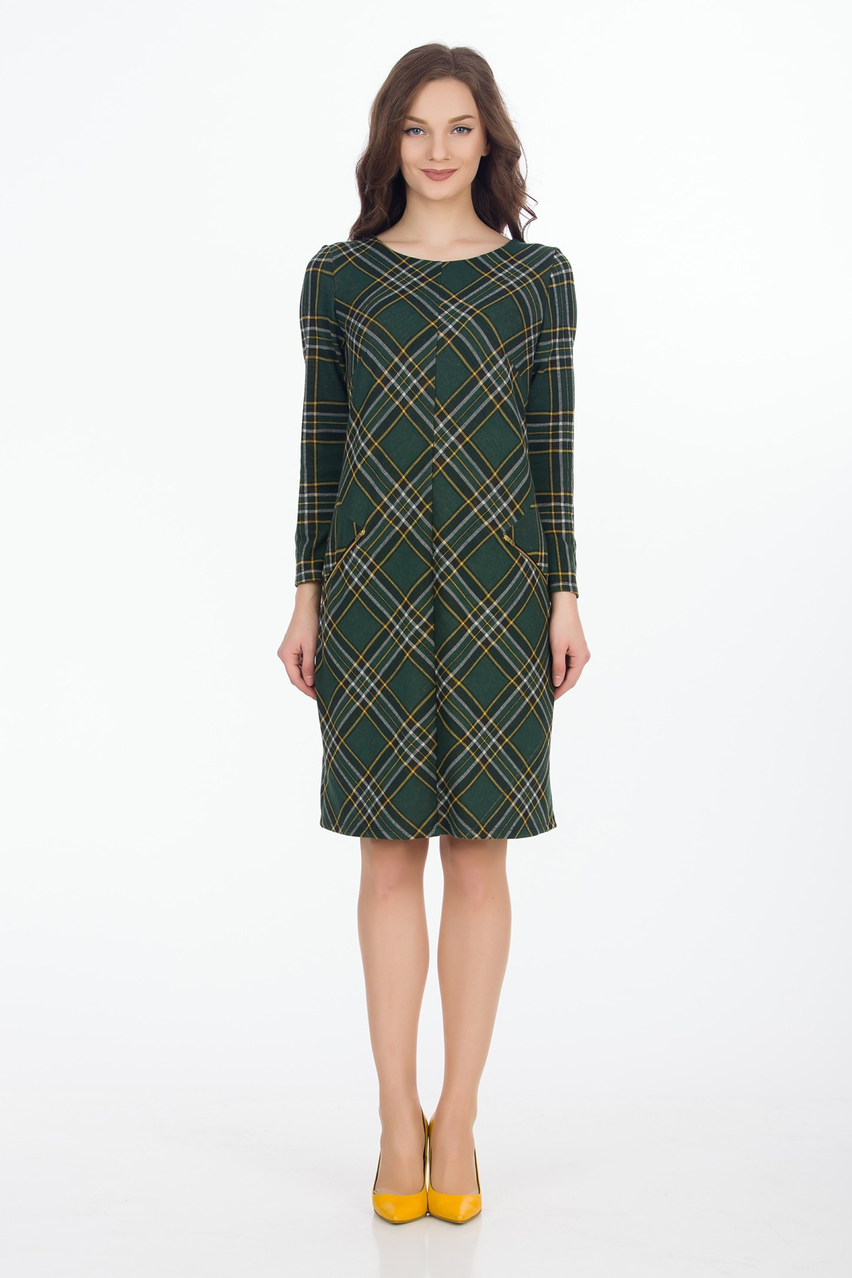 rochie-verde-carouri-sense