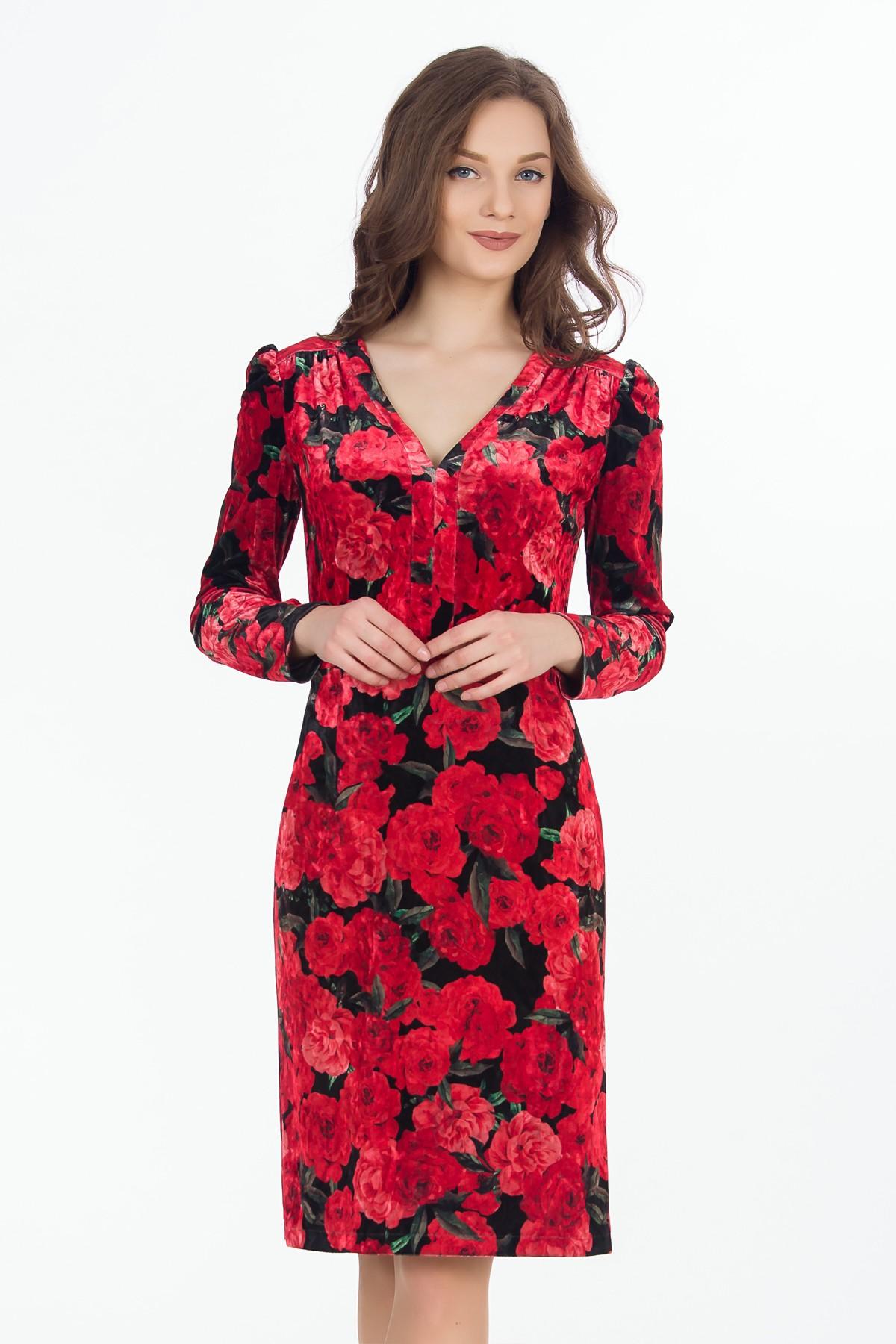 rochie-flori-catifea-sense