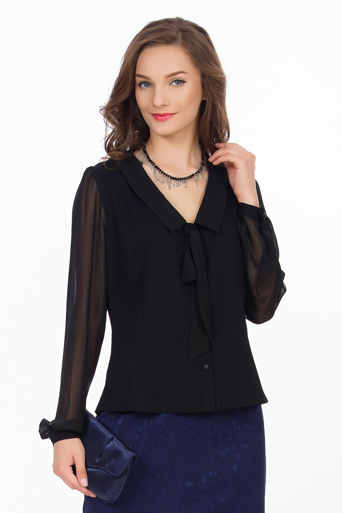 bluza-neagra-maneci-transparente-sense