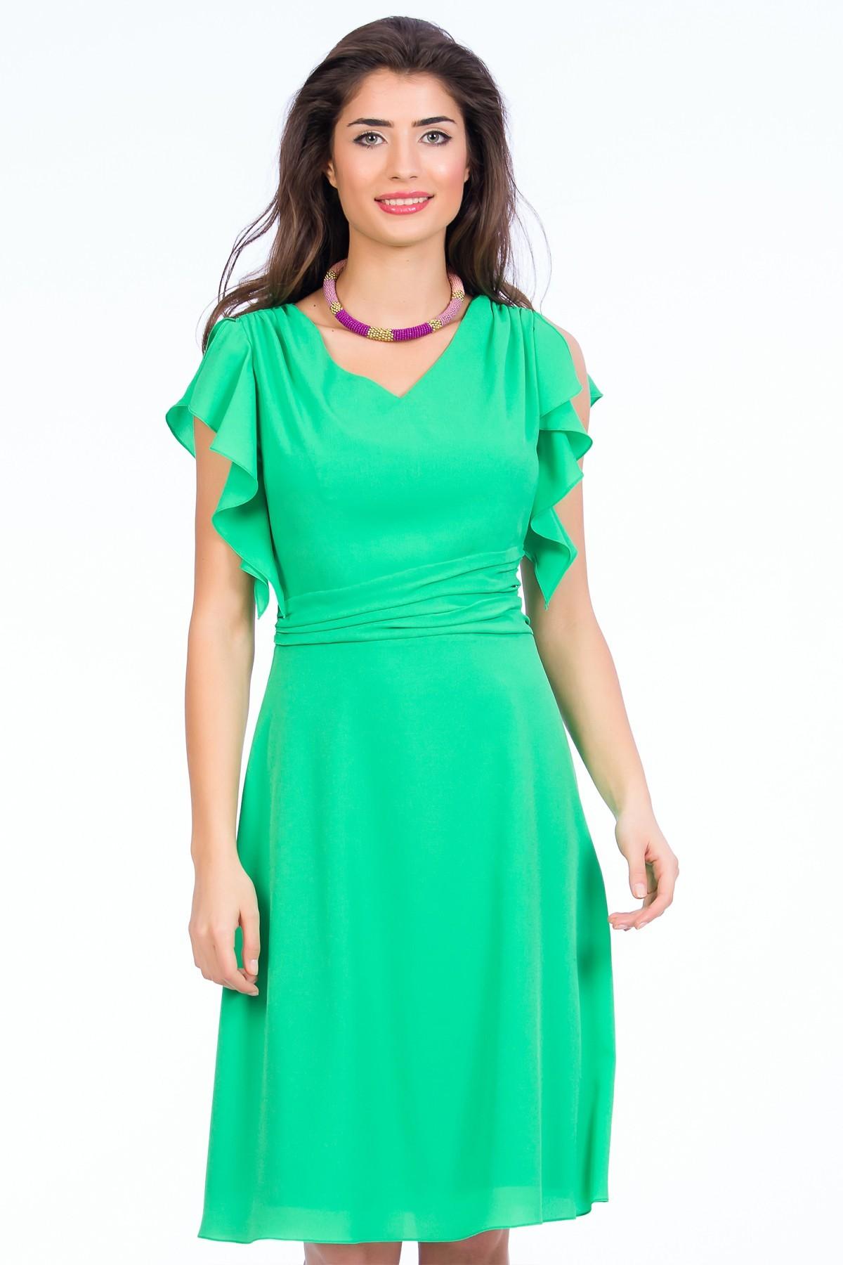 rochie-verde-volane-sense