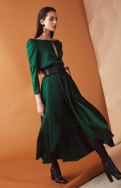 rochie-verde-lunga